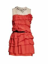 NWT Lanvin for H&M Signature Red Silk Rhinestone Cocktail Dress US 10 EU 40 New