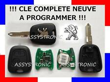 KEY COMPLETE NEW 2 Buttons for PEUGEOT 206- TO PROGRAM
