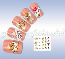 NAIL ART WATER TRANSFER STICKERS DECALS WRAPS HAPPY ANGEL STYLE(D87)