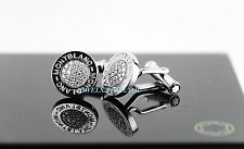MONTBLANC PRECIOUS COLLECTION PAVED DIAMONDS CUFFLINKS NEW BOX GERMANY 308203 SS