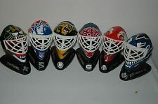 Set of 6 Mini Hockey Goalie Masks,1996 McDonalds Canada