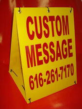 CUSTOM MESSAGE Sandwich Board Sign 2-sided A-Frame Kit