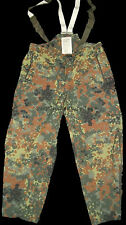 "GERMAN ARMY GORETEX TROUSERS XL, 38""- 44"", USED MVP, GORE-TEX, FLECKTARN"