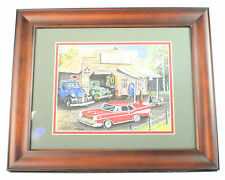 "Jeff & Cheryll Arnold ""The Auto Shop"" Art In Wood Frame"