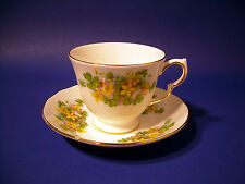 Queen Anne Lefton Floral Cup & Saucer 8615 Vintage early 80's