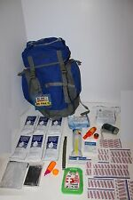 3 Day 72 Hour Emergency Survival Kit Bug out Bag Zombie in Blue for 1 Person BOB