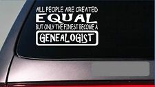 "Genealogist equal Sticker *G654* 8"" vinyl ancestory genealogy family tree parent"