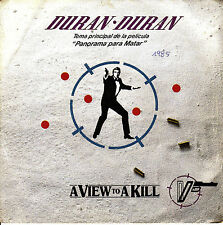 "7"" DURAN DURAN panorama para matar JAMES BOND OST a view to a kill SPANISH 1985"