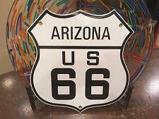 classic ROUTE 66 ARIZONA heavy duty 18 gauge steel die-cut porcelain sign
