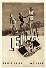 1936 Leica Kamera Drei Frauen in den Dünen  ca. 8x12 original Printwerbung