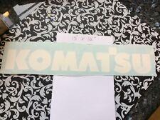 Komatsu Forklift Vinyl Decal  (Set of 2  White  decals) Komatsu Mast Decals