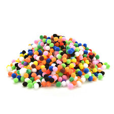 Lot 40 Pompon Rond Boule Couleur Mixte 10mm Peluches Polyester Loisir creatif