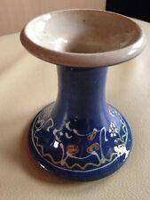 Keramik -Vase/ Kerzenständer, UNIKAT, Töpfer- Vase, blau, Töpfermarkt: Burgstall