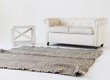 Wool Carpet Handmade Carpet Rugs Sheep Wool Grey Beige Rug 200x210 cm Throw Rug
