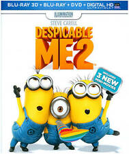 Despicable Me 2 [Includes Digital Copy; UltraViolet; 3D/2D] New Region B Blu-ray