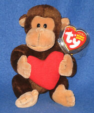 TY D'VINE the VALENTINE MONKEY BEANIE BABY - MINT with MINT TAGS
