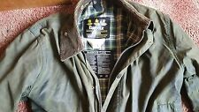 "BARBOUR Confine Cera Giacca 40"" Medium well worn PICCOLO STRAPPO A SLEAVE."