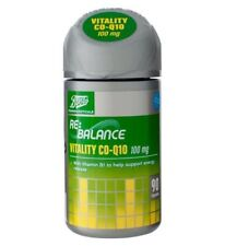 Boots Re:Balance Vitality Co-Enzyme Q10 100mg &Vitamin B1 90 Capsules FREE DELIV