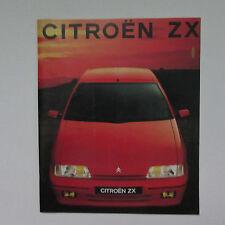 Citroen ZX Brochure including Volcane (1991) - Spanish