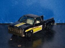 Restorable Vintage YatMing 1:64 Diecast Black Widow Chevy Stepside Truck [2665}