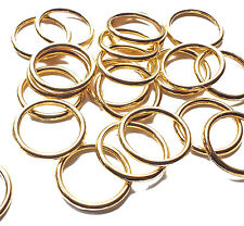 25 Strong Gold Plated 16mm Closed Soldered Jump Rings Connector Link 1.5mm thick