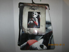 "DC Comics Batman Harley Quinn  Super Plush Throw Blanket 46"" X 60"" No# 2"