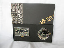 New Mother of Pearl Business/Credit Card Holder Compact Double Mirror Set Korea