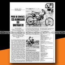 ★ KAWASAKI KX 125 ★ 1981 Article de presse Moto / Original Article #a1287