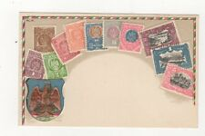 Mexico Vintage Embossed Philatelic Stamp Postcard 504a