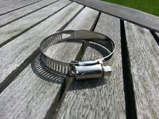 10-PACK Stainless Steel, Hose Clips, Jubilee Type Clips, 40mm to 64mm.