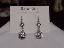 Beautiful Lia Sophia SCRAPBOOK Dangle Earrings, NWT
