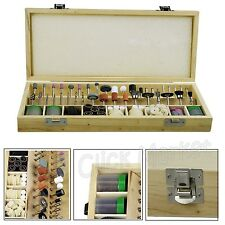 Rotary Tool Accessory Kit 228 Pc Box Buffing Polish Engrave Drill Bit Set DREMEL