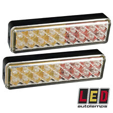 Pair of Slimline 135mm Dual Voltage 12v - 24v LED Tail Trailer Lights *5YR WNTY*