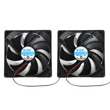 2pcs 120mm 120x25mm 12V 4Pin DC Brushless PC Computer Case Cooling Cooler Fan