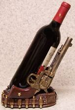 Wine Bottle Holder and/or Decorative Sculpture 2 Pistols and Cartridge Belt NEW