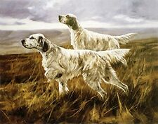 ENGLISH SETTER GUN DOG FINE ART LIMITED EDITION PRINT - by John Trickett
