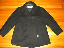 1970's Black Wool Pea Coat Women's Size 12 Used- Great Condition