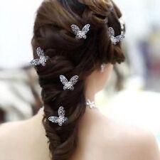 Set 5 Haarnadeln Schmetterlinge Hochzeit Strass Blume Tiara Diadem Haarschmuck