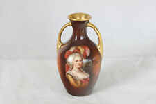MINIATURE PORCELAIN ROYAL SCHWARZBURG PORTRAIT VASE HAND PAINTED ARTIST SIGNED