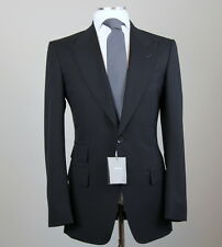 New Tom Ford Solid Blue Peak Lapel Suit Size 44 L (54 L EU) Fit A Model NWT