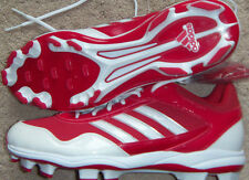 New Mens adidas Excelsior Pro TPU Low Baseball Cleats Size 12.5 Red/White $80