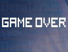 GAME OVER Novelty Funny Arcade Retro Style Car/Van/Window/Bumper Vinyl Sticker