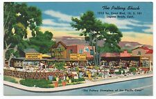 1940s Advertising Postcard for The Pottery Shack Laguna Beach CA