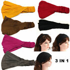 Ladies Hairband Head Band Headband Wrap Neck Head Scarf Cap Sports Bandana
