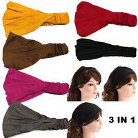 Ladies Hairband Head Band Headband Wrap Neck Head Scarf Cap Sports Bandana