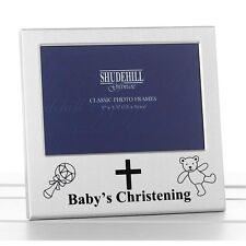 Baby's Christening  Photo Frame Chrome Baby Frame BNIB 73488