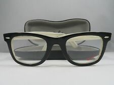 Ray-Ban RB 5121F 2464 WAYFARER Black on Ivory Authentic Eyeglasses 50mm w/Case