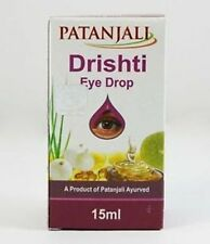 Divya Drishti Eye Drops [ Patanjali Herbal ] For Tired Eyes I 5X15 ML I Orignal