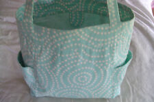 Shoulder Tote Purse, Large, Lined, Heavy Cotton, Green, Pockets, USA Made, 12x12