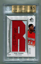 Paul George 2010 SP Authentic Auto Patch #90/149 Rookie RC BGS 9.5 Gem Mint